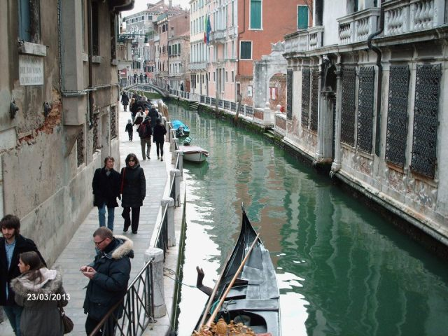 Beautiful canals and gondollas